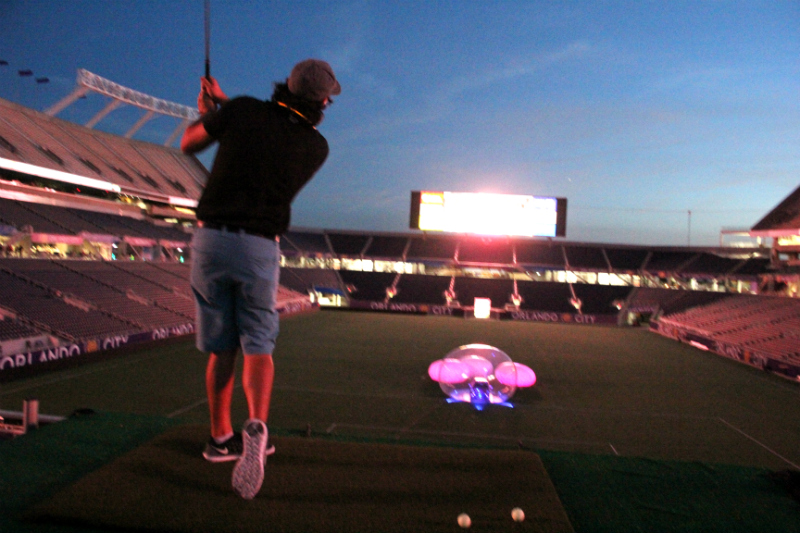night golf hole in one