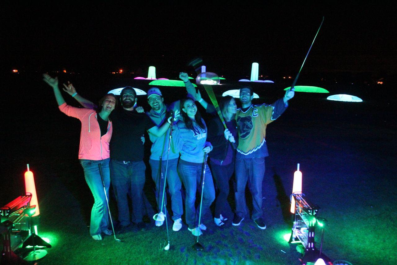 night golf party in North Carolina