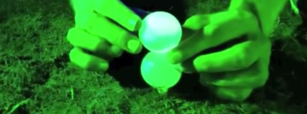 night golf trick shot video